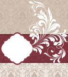 Wedding damask floral card Royalty Free Stock Image