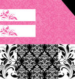 Wedding damask floral card Stock Photos