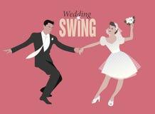 Wedding Dance. Bride and groom dancing swing Royalty Free Stock Photography