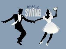 Wedding Dance. Bride and groom dancing swing Royalty Free Stock Image