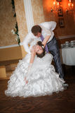Wedding dance of bride and groom. First wedding dance of newlyweds. wedding dance of bride and groom Stock Photography