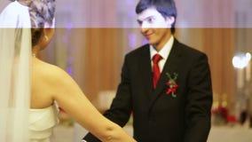 Wedding dance stock video