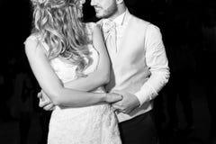 Wedding dance. First dance bride and groom wedding dance Stock Photography