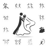 A wedding dance icon. Set of people in dance  element icons. Premium quality graphic design. Signs and symbols collection icon for. Websites, web design, mobile Stock Photography