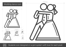 Wedding dance line icon. Stock Photos