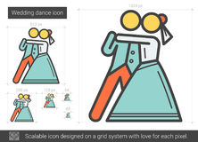 Wedding dance line icon. Royalty Free Stock Photo