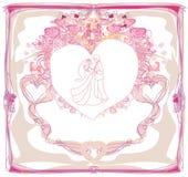 Wedding dancers - invitation card Royalty Free Stock Photography