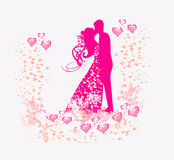Wedding dancing couple background Royalty Free Stock Images
