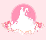 Wedding dancing couple background Royalty Free Stock Photography