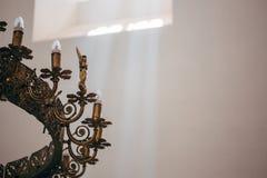 Wedding dans l'église Photographie stock libre de droits