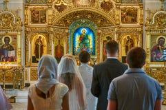 Wedding dans l'église Image libre de droits