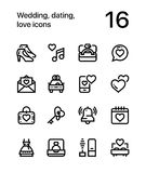 Wedding, dating, love icons for web and mobile design pack 2 Stock Image