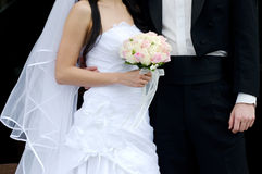 Wedding Day. A groom and his bride on their wedding day Royalty Free Stock Photography