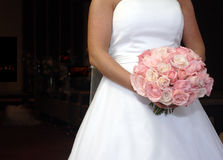 Wedding day. Dress with flowers Royalty Free Stock Photo