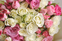 Wedding day. And  beautiful bouquet with roses, wedding card Stock Image