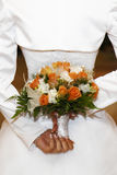 Wedding Day. Beautiful Bridal Bouquet Royalty Free Stock Photography