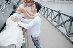 Wedding day in Budapest Stock Image