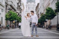 Wedding day in Budapest Stock Photo