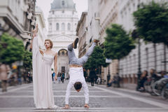 Wedding day in Budapest Stock Photos