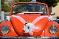 Wedding day car Royalty Free Stock Image