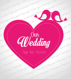 Wedding day design, vector illustration. Royalty Free Stock Photography