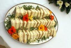 Wedding day egg salad sandwiches Stock Image