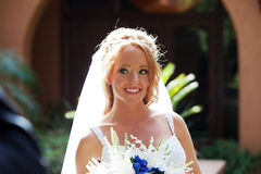 Wedding Day First Look Royalty Free Stock Image