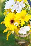 Wedding Day Floral Arrangements Royalty Free Stock Image