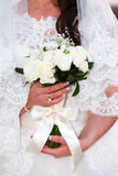 Wedding day has come today. Beautiful bride, magic flowers and a magical day Royalty Free Stock Images