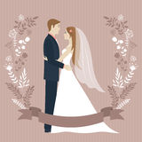 Wedding day illustration. Royalty Free Stock Images