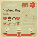 Wedding Day Invitation Infographics Card royalty free illustration