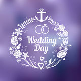 Wedding day invitation Stock Image