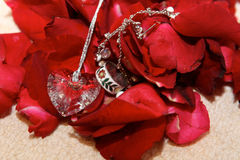Wedding day jewelry Stock Photo