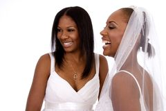 Wedding day laughter Royalty Free Stock Photography
