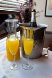 Wedding Day Mimosas Stock Photography