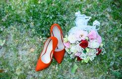 Wedding day for the newlyweds. Wedding attributes of the newlywe