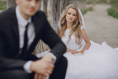Wedding day in odessa Royalty Free Stock Photography