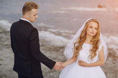 Wedding day in odessa Royalty Free Stock Image