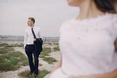 Wedding day in odessa Royalty Free Stock Photo
