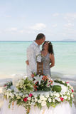 Wedding Day On The Beach Stock Photography