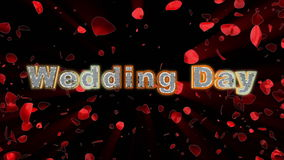 Wedding Day, rose heart exploding stock video