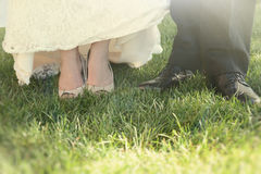 Wedding Day Shoes Stock Image