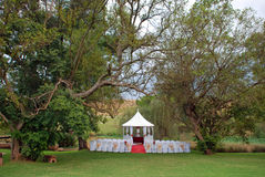 Wedding Day Venue Setting Royalty Free Stock Photo
