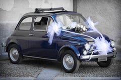 Wedding Day: Vintage Italian Car Stock Image