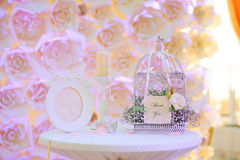 Wedding decor birdcage Stock Photo