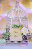 Wedding decor birdcage Royalty Free Stock Photography