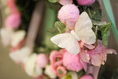 Wedding decor butterfly Royalty Free Stock Photography