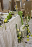 Wedding decor composition. Green Stock Images