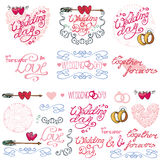 Wedding decor elements kit.Labels,cards,invitations Royalty Free Stock Image