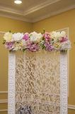 Wedding decor flower Stock Image